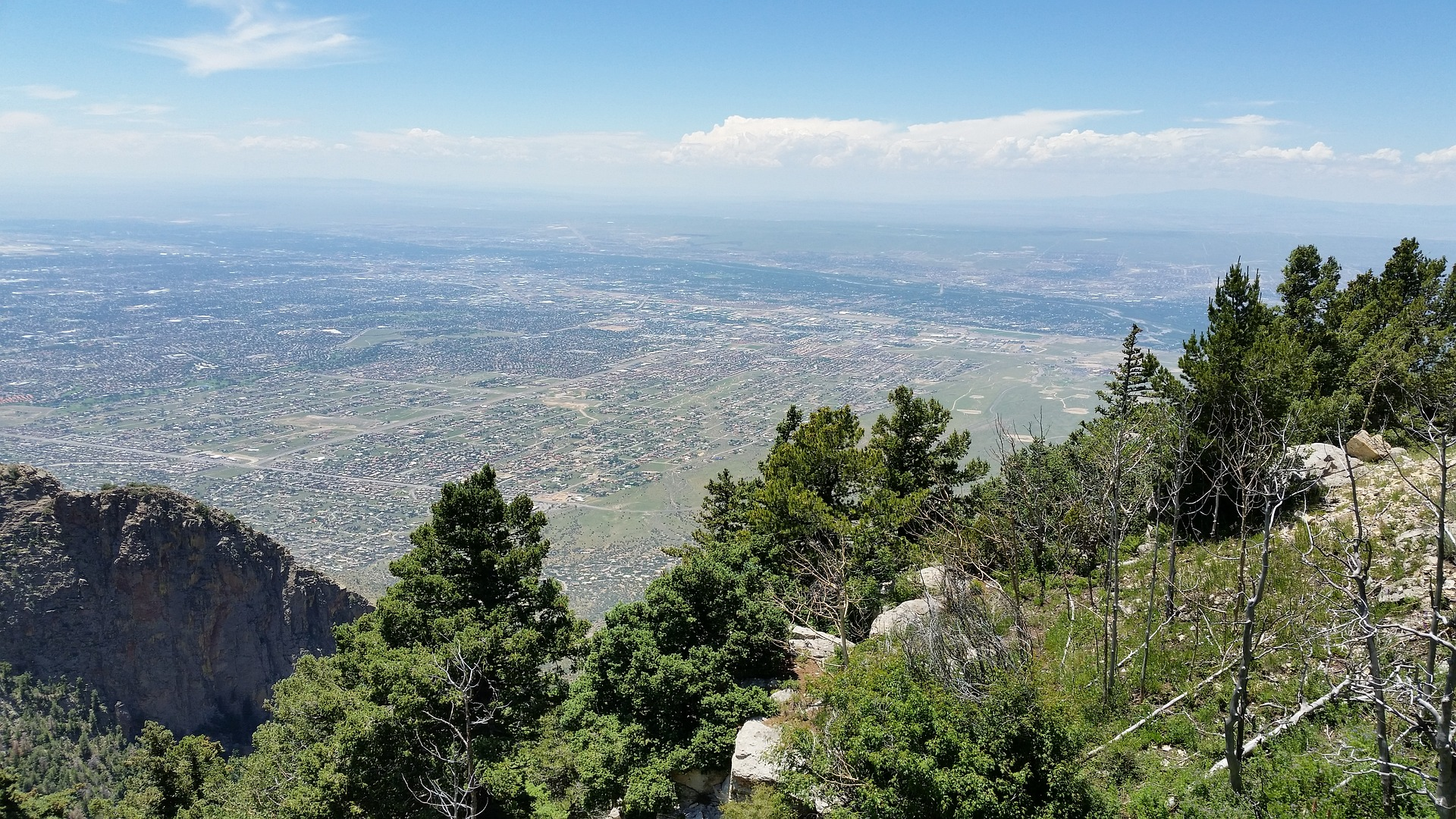 Daytime view of Albuquerque from top of the Sandia