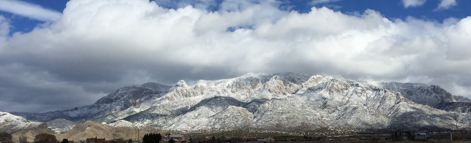 Snow on the Sandia Mountains