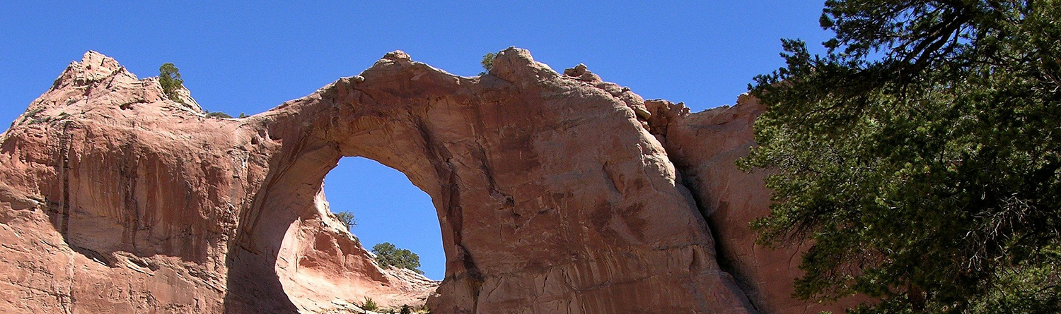 Picture of Red Rocks Arch against Blue Sky