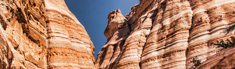 Striped rocks of a canyon